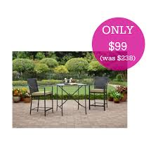 High Bistro Table Set Outdoor Braddock Heights 3 Piece High Outdoor Bistro Set Just 99 Shipped