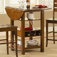 Kitchen Island Table With Storage Ridgewood Counter Height Drop Leaf Dining Table With Storage