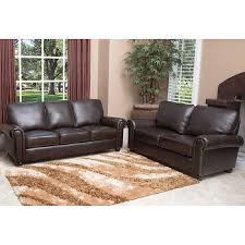 brown leather sofa and loveseat abbyson living bedford 2 pc top grain italian leather sofa