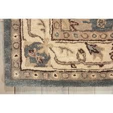 nourison hand tufted caspian blue wool rug 8 u0027 x 10 u00276 free
