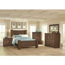 king poster bedroom set bedroom sets sutter creek 204531 7 pc king poster bedroom set at