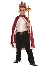 Navy Halloween Costumes King Robe Crown Red Navy Blue Boys Boys Costumes