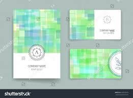 Business Card Invitation Set Vector Card Templates Business Card Stock Vector 303035423