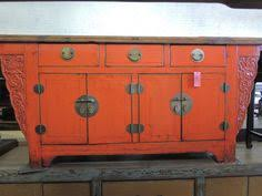 Chinese Credenza Antique Chinese Storage Credenza With Distressed By Modernredla