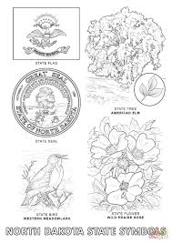 north dakota state symbols coloring page free printable coloring