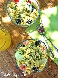 pesto ranch pasta salad strawmarysmith