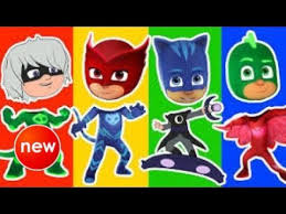 wrong heads pj masks learn colors kids