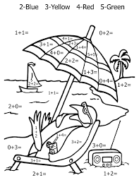 addition coloring page subtration and addition a cute cartoon
