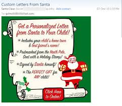 want personalized spam from santa