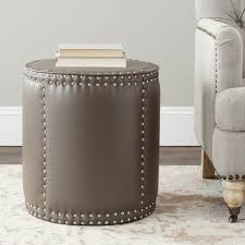 Gray Leather Ottoman Gray Leather Ottomans Storage Coffee Table Etc