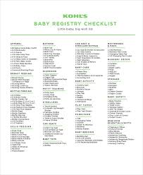 top baby registries baby registry checklist 8 free word pdf psd documents