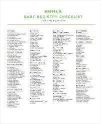burlington coat factory wedding registry baby registry checklist 8 free word pdf psd documents
