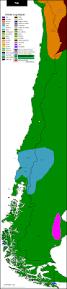 Map Chile Chile Mapa Lingüístico Linguistic Map