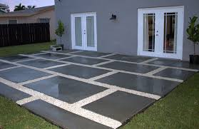 Backyard Patio Stones Create A Stylish Patio With Large Poured Concrete Pavers