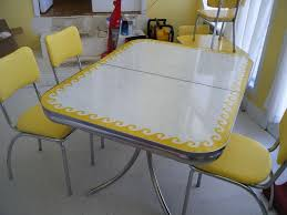 retro yellow kitchen table vintage yellow formica wave table formica table dinette sets and