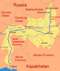 map of europe and russia rivers ural river