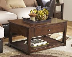 Storage Side Table by Furniture Storage Coffee Table Height With Tray And Beige Sofa