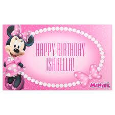 minnie mouse birthday minnie mouse birthday banner zazzle