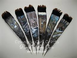 turkey feather painting country girl crafts painted turkey feathers