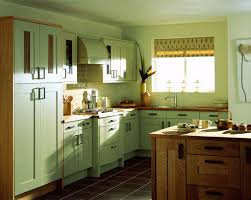 Colors To Paint Kitchen by Charming Green Painted Kitchen Cabinets Extraordinary Two Colors