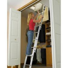 keller compact small spaces 7 u0027 to 9 u0027 aluminum attic ladder type i