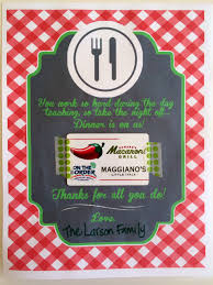 dinner and a gift card the larson lingo appreciation dinner is on us free