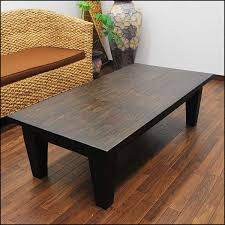 Solid Wood Coffee Tables Asian Modern Teak Solid Wood Coffee Table 120 Cm Dark Brown Asian
