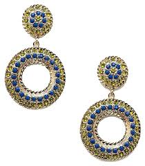 cara couture cära couture jewelry multi color post donut gold disc w