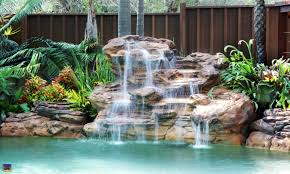 diy pool waterfall swimming pool rock waterfalls kits fountains and boulders