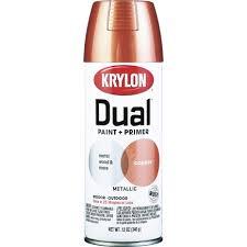 krylon 12 oz copper metallic dual paint primer spray paint