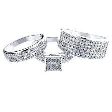 trio wedding sets trio rings wedding sets blushingblonde