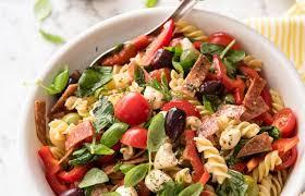 italian pasta salad with homemade italian dressing recipetin eats