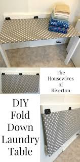 Diy Fold Down Table Diy Drop Down Laundry Table