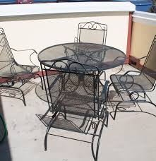 Wrought Iron Patio Tables Outdoor Wrought Iron Patio Table And Chairs By Plantation Ebth