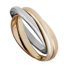 russian wedding rings 9ct two colour gold russian wedding ring