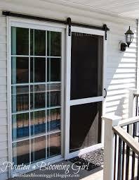 Patio Screen Door Repair Sliding Screen Door Barn Track Planted And Blooming Doors