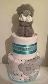 teddy baby shower ideas baby boys tatty teddy nappy cake baby shower gift 22 99 nappy