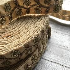 sequin ribbon indian floral sequin ribbon