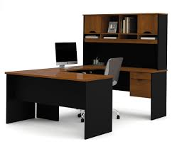Corner Computer Desk With Hutch by Bestar Innova Tuscany Brown U Shaped Computer Desk 92850 63