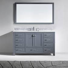 60 In Bathroom Vanities With Single Sink by Virtu Usa Ms 2060 Wmsq Gr Caroline 60 In Bathroom Vanity Set