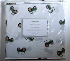 Twin Sheet Set Hillcrest Green Tractor 3pc Twin Bed Sheet Set 100 Cotton John
