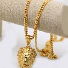 gold pendant long necklace images 100 gold color lion head pendants high quality fashion hiphop jpg
