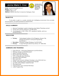 basic resume exles 2017 philippines resume sle picture copy 3 resume format in philippines