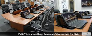 conference table with recessed monitors conference room tables and computer conference tables smartdesks 800