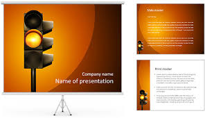 powerpoint template traffic free traffic lights shapes template