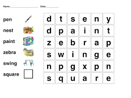 kids word puzzle games free printable for colors in printable