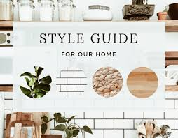 setting a style guide for our home renovation