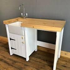 stand alone kitchen sink unit pine freestanding kitchen handmade small mini baby belfast butler sink unit ebay