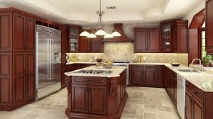 Interesting Kitchen Backsplash Ideas With Cherry Cabinets Idea Of - Cherry cabinet kitchen designs