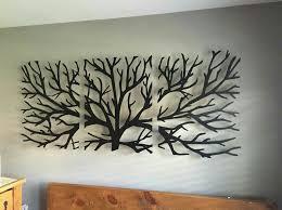 wooden tree wall hanging metal tree wall